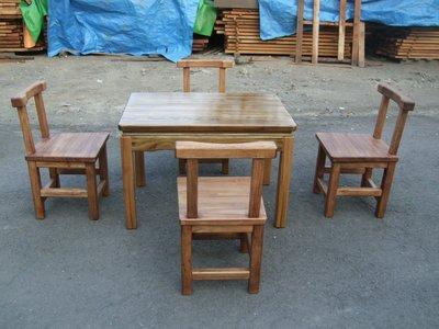 A039 {崙頂傳統原木家具行}~杉木實木桌配杉木餐椅 跟 接受訂作 訂色 多款選擇  請先詢問