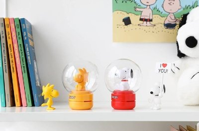 布丁不Q韓國代購*韓國10X10 史努比聯名香氛小夜燈 5.4X12.8 cm~預購