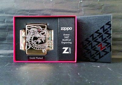 ONE*$1~*美系*ZIPPO* Gold Plated《中國龍*豪華限量 》加厚版*鍍金*編號:29265