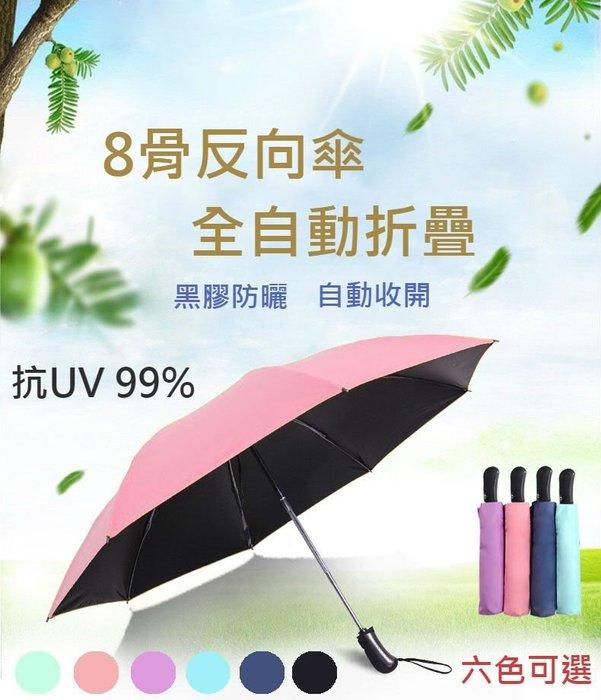*現貨*八骨反向傘抗風自動摺疊雨傘 抗UV自動傘 防風傘  雙人傘  晴雨傘  抗強風遮陽傘