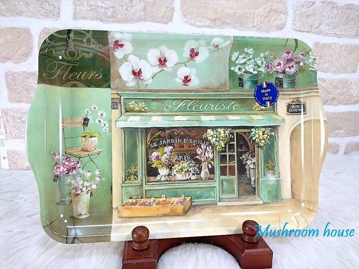 點點蘑菇屋 高級進口義大利製Easy Life 33x22公分美耐皿托盤-法式花卉店 壓克力茶盤 鄉村風雜貨 現貨