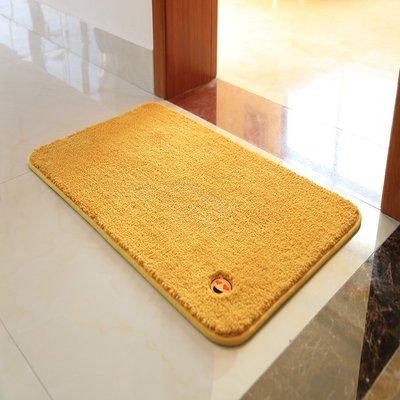 金黃色門口進門地墊門墊綠色浴室吸水地毯大紅色喜慶防滑腳墊黑色小豬佩奇