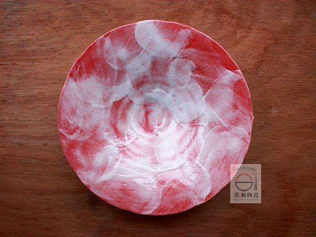 +佐和陶瓷餐具批發+【XL070711-1赤雪釉22.5皿-日本製】日本製 赤雪釉系列 圓皿 花形缽 佐和定製款 擺盤