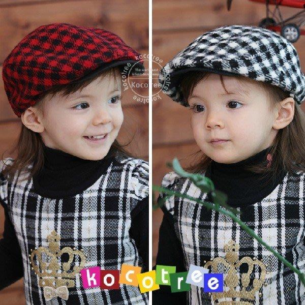 【瑜瑜小屋】韓版《格子貝蕾款》時尚貝蕾帽~鴨舌帽 (J2-1)