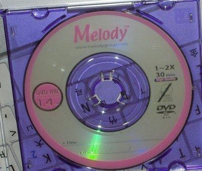 ...點子電腦-北投...◎Melody  Mini DVD-RW 8cm空白光碟片◎1.4GB/30min,40元