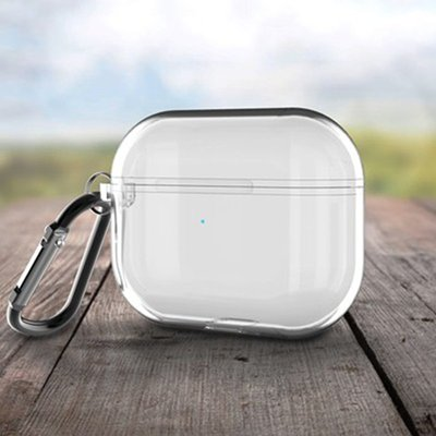 耳機套 保護套 耳機盒簡約透明軟殼蘋果airpods pro3代保護套連體藍牙無線耳機保護盒殼