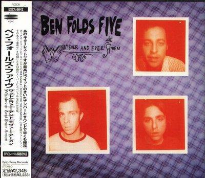 K - Ben Folds Five - WHATEVER AND EVER AMEN - 日版 +1BONUS+OBI