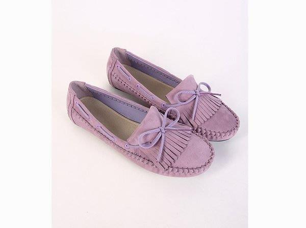 【J&H collection】百搭流蘇平底女豆豆鞋(紫) 女鞋 平底鞋 【柔凡詩】3008
