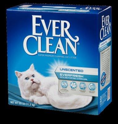 ω毛腸腸ω限時特價【 Ever Clean藍鑽貓砂-白標-『雙重活性碳低過敏結塊砂』(低過敏)11KG/25磅】