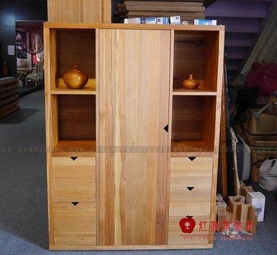 [紅蘋果傢俱] L212 全實木系列 收納櫃 餐櫃 書櫃 櫥櫃 客廳 數千坪展示