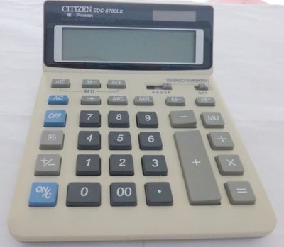 90%新「Citizen」SDC-8780L 12位 專業 大LED芒 會計師 專用 計算機Calculator原$198