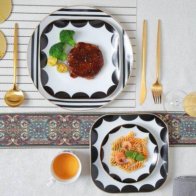 有一間店-簡約西餐牛排點心盤刀叉勺杯碟 酒店樣板房餐具套裝 西餐陶瓷餐具(規格不同 價格不同)