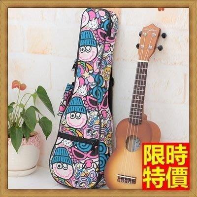 烏克麗麗包 ukulele 琴包配件-21/23/26吋俏皮可愛加綿帆布手提背包保護袋琴袋琴套69y5[米蘭精品]