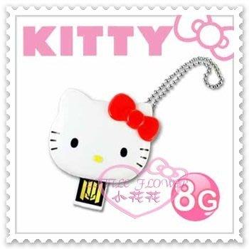 ♥小花花日本精品♥Hello Kitty USB隨身碟辦公室必備大臉立體蝴蝶結造型紅色8GB台灣製 21079702 新北市