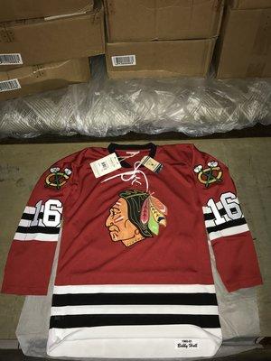 NHL Mitchell & Ness 芝加哥黑鷹隊 Bobby Hull sz40 復古 球員版 球衣 CURRY Lebron JORDAN KOBE