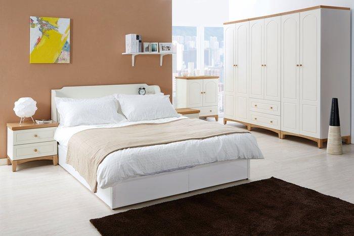 [歐瑞家具] JB-338-1 英式小屋5尺床組(不含床墊)/系統家具/沙發/床墊/茶几/高低櫃/餐桌椅/1元起
