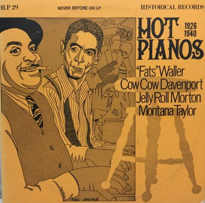 "西洋美版黑膠唱片 HOT PIANOS, NEVER BEFORE ON LP .Waller, ""Fats"""