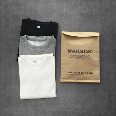 【時尚潮流購物】美單 WARNING 380G重磅復古純色長袖T 100%正品 C176 zara h&M topman