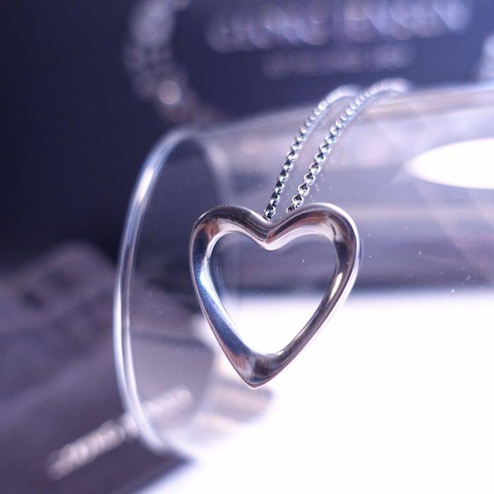 《十九號二手屋》GEORG JENSEN 喬治傑生HEART PENDANT 2014年度設計師款 純銀心型/愛心項鍊