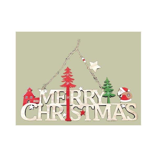 節慶王【X070302】42*22木製英文字(老公公),聖誕節/聖誕樹/聖誕老公公/聖誕木製品/掛飾/佈置/裝飾