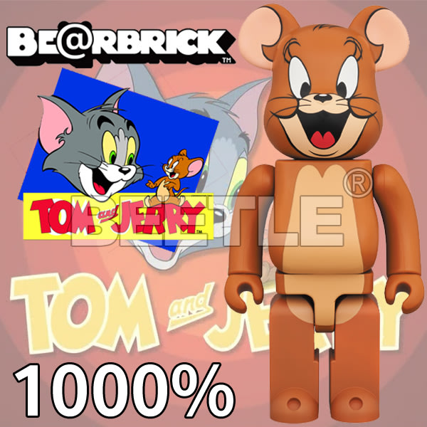 BEETLE BE@RBRICK TOM AND JERRY 湯姆與傑利 傑利鼠 BEARBRICK 1000%