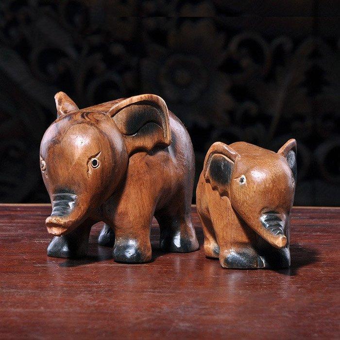 裝飾擺件 裝飾品 泰國家居飾品 創意小象擺件酒柜裝飾品大象工藝品擺設吉祥如意