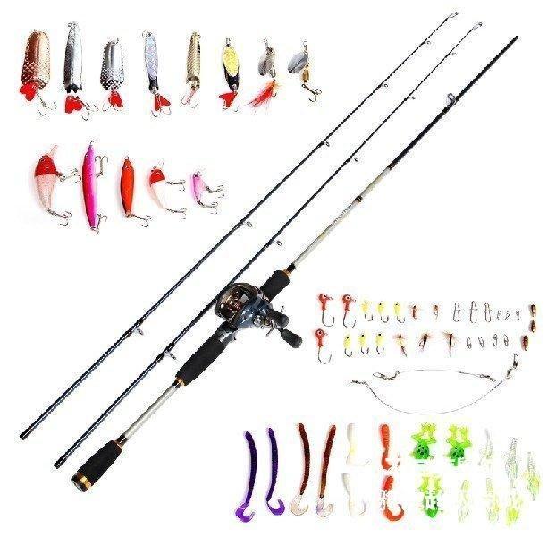 【格倫雅】^佳釣尼θ勁 頂級2.1米槍柄路亞竿套裝 雙稍 配專業水滴輪路亞套裝2414