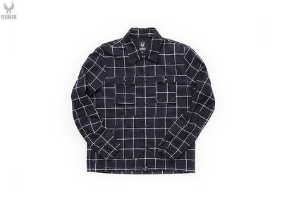 Remix 15' S/S Check Norris Coach Jacket [ 丈青 ]全新M號˙可交流