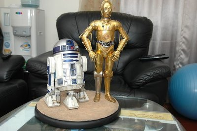 【烏龍1/2】sideshow ps3 xbox 360 星際大戰 光劍 Star Wars C-3PO and R2-D2 Premium Format 雕像