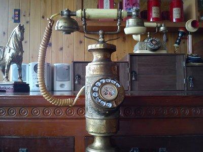 *內壺春角落光陰* 銅製 早期 維多利亞公主 宮廷式 古董 轉盤 電話