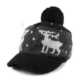 全新針織大球毛線帽子