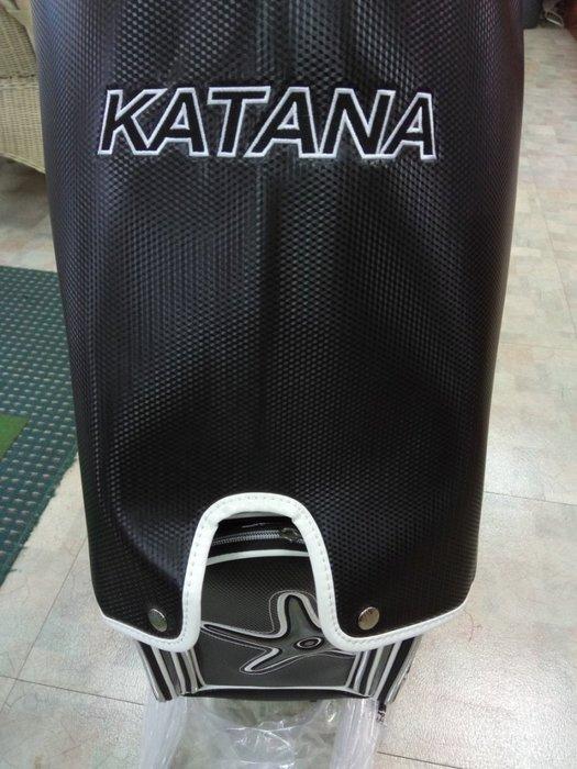 (狗夫小舖)KATANA GOLF男用高檔專業球袋(黑白色系)