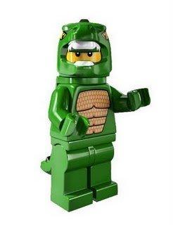 絕版品現貨【LEGO 樂高】玩具 積木/ Minifigures人偶包系列: 5代 8805 | #6 恐龍人