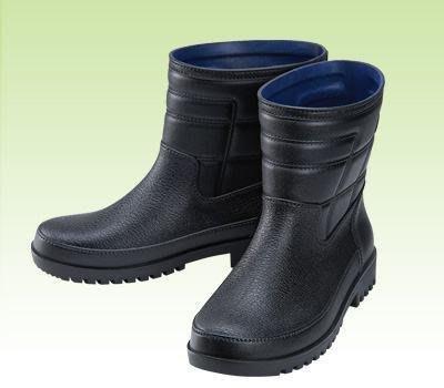 【登山雨鞋 】晴雨鞋 防水鞋 男用雨鞋 皇力牌晴雨兩用休閒男鞋-黑色【安安大賣場 】