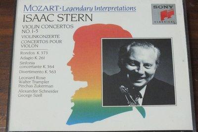 Stern-Mozart Violin Concertos No. 1-5-奧地利版,三片裝,無IFPI