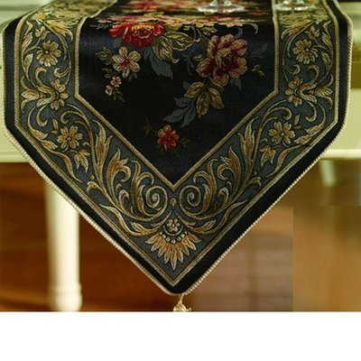 歐式奢華桌旗布藝西餐桌布 時尚檯布茶几旗床旗居家客廳臥室裝飾