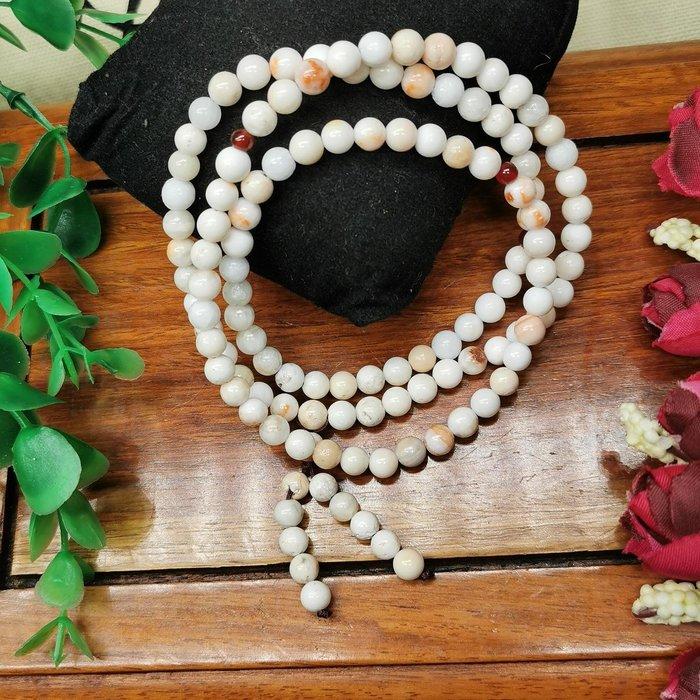 二姐的店 白龍宮舍利 白金剛舍利 念珠 6mm108顆念珠 稀有 收藏級 手鏈 項鍊 結緣價3980元