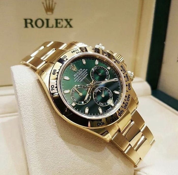 Rolex 勞力士 Daytona Green/18k yellow gold Ø40mm - 116508