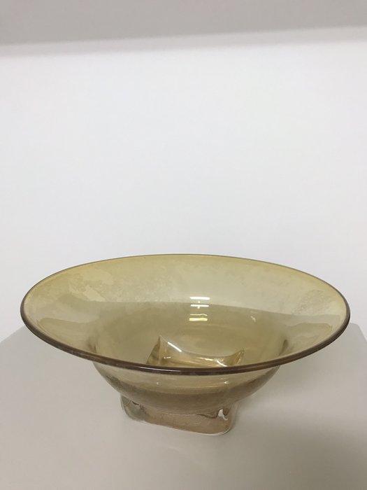 琥珀色玻璃盤插花器/插花器皿/藝術花盆/糖果/零食/水果盤/家用/商用/擺飾