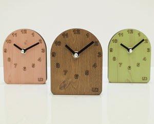 Growlife 種生活 ▶ 韓國 Unminuto  - UD Desk Clock UD桌上型木紋時鐘 /桌鐘/ 壁鐘 / 造型鐘