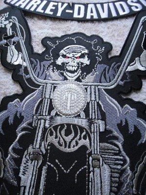 hog哈雷機車騎士背章徽章飛車黨chopper harley davidson vibes buco indian火焰骷髏