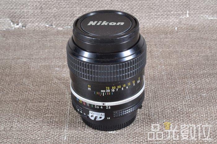 【台中品光數位】NIKON Ai 105mm F2.5 手動 定焦 阿富汗少女 #86338