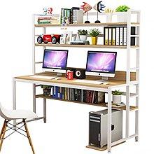 (訂貨價$699up)鋼架書架電腦枱 書櫃鋼木枱(100cm|120cm|140cm|160cm寬)*165cm加高 Desk W/Bookshelf
