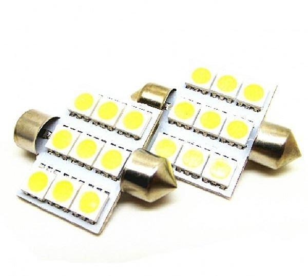 《桃園精品》高亮度 LED 31mm 5050 9晶 雙尖汽車室內燈閱讀燈改裝