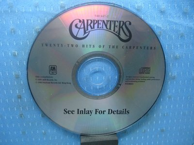 [無殼光碟]EB Carpenters Twenty Two Hits of the Carpenters CD1
