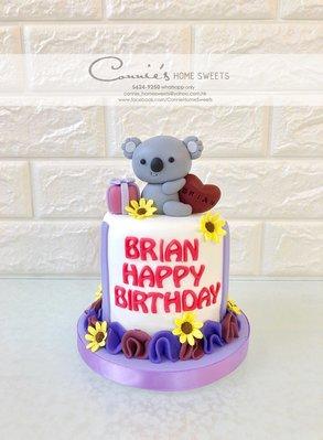 【Connie's Home Sweets】樹熊生日蛋糕專門店 手工蛋糕 可造不同主題蛋糕 3D蛋糕 Koala Birthday Cake 3D cake
