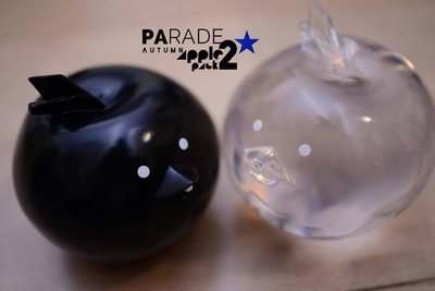 THREEA 3A 3AA ASHLEY WOOD LARGE PARADE AUTUMN APPLES BLACK AND CLEAR 2 PACK