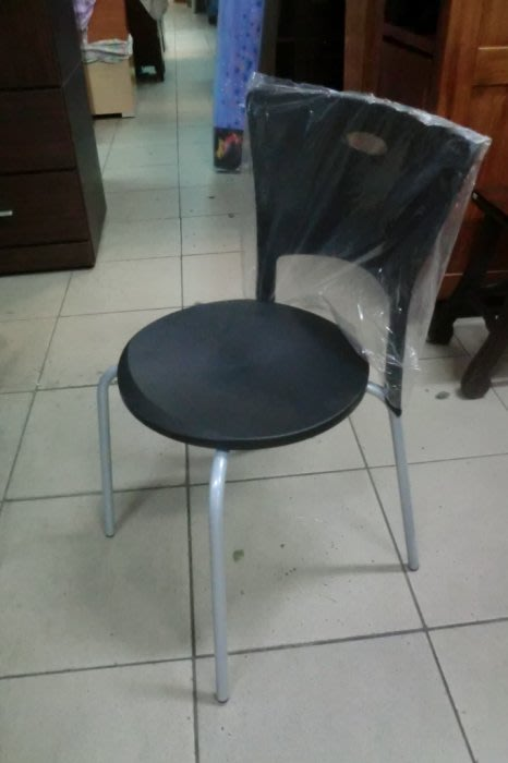 樂居二手家具*F199全新黑色摩洛哥餐椅*餐椅 吃飯椅 餐廳椅 洽談椅 化妝椅 全新餐椅 全新吃飯椅