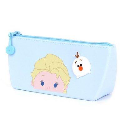 ♀高麗妹♀韓國 Disney FROZEN II 冰雪奇緣2 矽膠款文具筆袋/化妝品拉鍊收納包(預購)