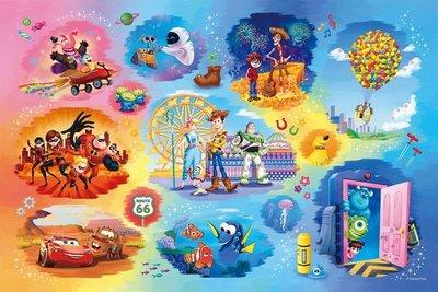 日本進口拼圖專賣店_1000片 迪士尼 Treasured Moments 立體晶鑽貼圖 皮克斯大集合 97-003